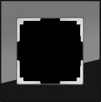 WL01-Frame-01 / Рамка Favorit на 1 пост (Черный, стекло)