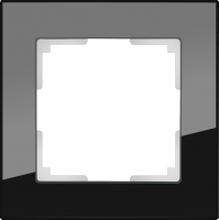 WL01-Frame-01 / Рамка Favorit на 1 пост (Черный, стекло) a031797