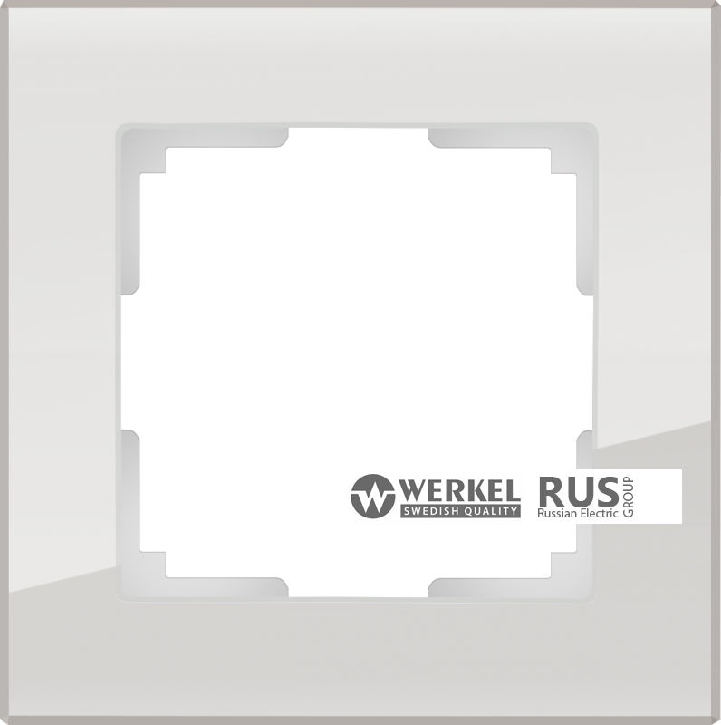 WL01-Frame-01 / Рамка Favorit на 1 пост (Дымчатый, стекло)