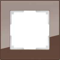 WL01-Frame-01 / Рамка Favorit на 1 пост (Мокко, стекло) a031792