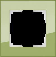 WL01-Frame-01-pistachio / Рамка Favorit на 1 пост (фисташковый)