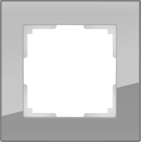 WL01-Frame-01 / Рамка Favorit на 1 пост (Серый, стекло) a030774