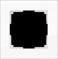 WL01-Frame-01-white / Рамка Favorit на 1 пост (стекло белое)