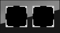 WL01-Frame-02 / Рамка Favorit на 2 поста (Черный, стекло)