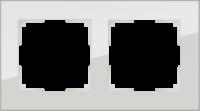 WL01-Frame-02 / Рамка Favorit на 2 поста (Дымчатый, стекло) a030786