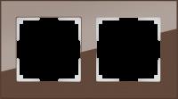 WL01-Frame-02 / Рамка Favorit на 2 поста (Мокко, стекло) a031793