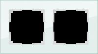 WL01-Frame-02 / Рамка Favorit на 2 поста (натуральное стекло)