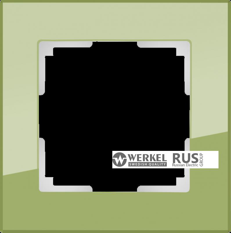 WL01-Frame-02-pistachio / Рамка Favorit на 2 поста (фисташковый)