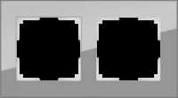 WL01-Frame-02 / Рамка Favorit на 2 поста (Серый, стекло) a030776