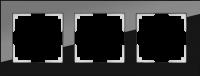 WL01-Frame-03 / Рамка Favorit на 3 поста (Черный, стекло)