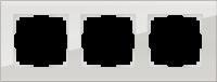 WL01-Frame-03 / Рамка Favorit на 3 поста (Дымчатый, стекло)