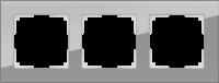 WL01-Frame-03 / Рамка Favorit на 3 поста (Серый, стекло) a030777