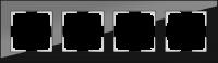 WL01-Frame-04 / Рамка Favorit на 4 поста (Черный, стекло) a031800