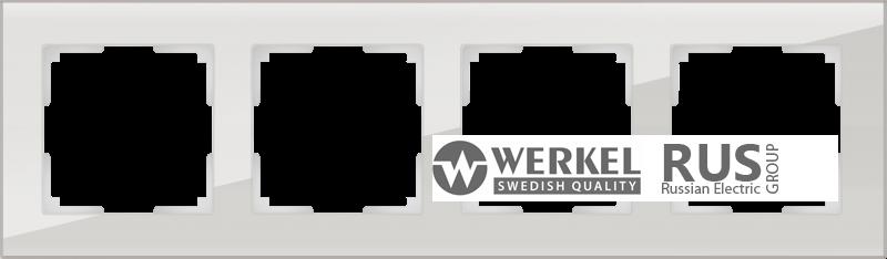 WL01-Frame-04 / Рамка Favorit на 4 поста (Дымчатый, стекло)