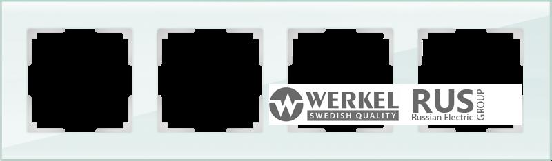WL01-Frame-04 / Рамка Favorit на 4 поста (натуральное стекло)