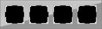 WL01-Frame-04 / Рамка Favorit на 4 поста (Серый, стекло) a030778