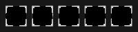 WL01-Frame-05 / Рамка Favorit на 5 постов (Черный, стекло) a031801