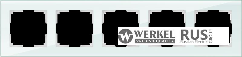 WL01-Frame-05 / Рамка Favorit на 5 постов (натуральное стекло)
