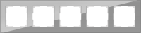 WL01-Frame-05 / Рамка Favorit на 5 постов (Серый, стекло) a030779