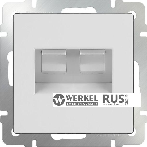 WL01-RJ11-45 / Розетка телефонная RJ-11 и Еthernet RJ-45 (белый)