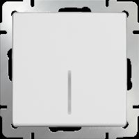 WL01-SW-1G-LED / Выключатель одноклавишный с подсветкой(белый) a030766