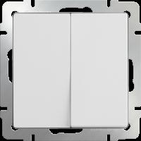 WL01-SW-2G-2W / Выключатель двухклавишный проходной (белый) a028646