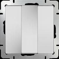 WL01-SW-3G / Выключатель трехклавишный (белый)