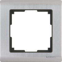 WL02-Frame-01 / Рамка Metallic на 1 пост (глянцевый никель) a028859