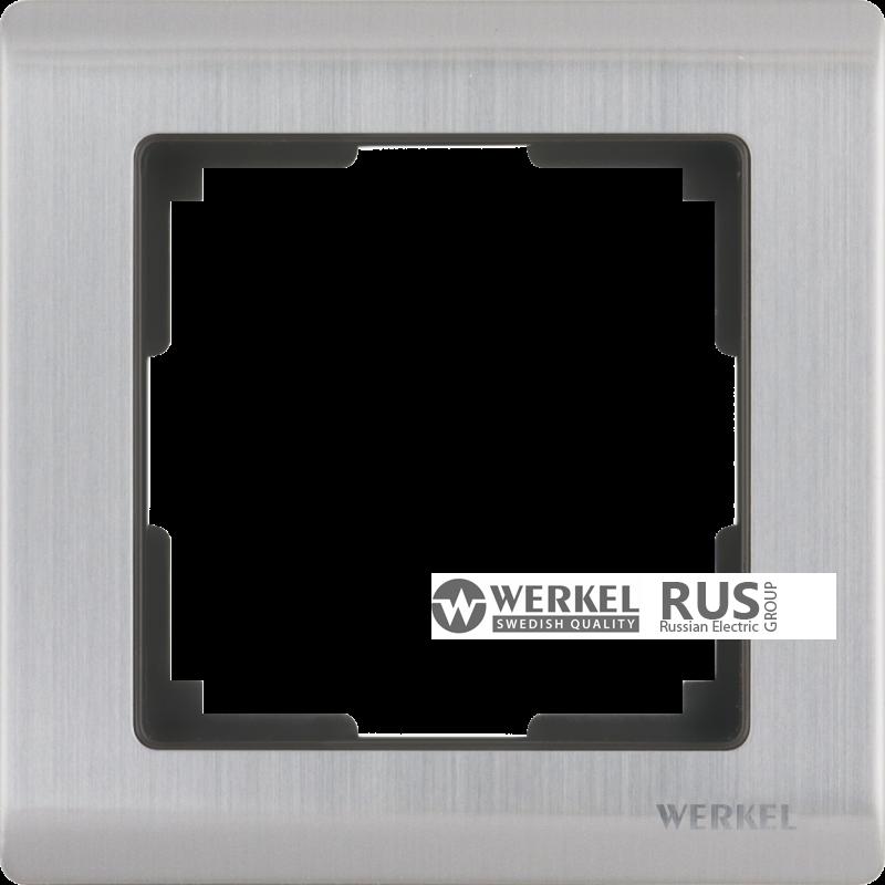 WL02-Frame-01 / Рамка Metallic на 1 пост (глянцевый никель)