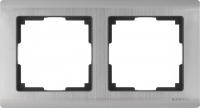 WL02-Frame-02 / Рамка Metallic на 2 поста (глянцевый никель) a028860