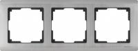 WL02-Frame-04 / Рамка Metallic на 4 поста (глянцевый никель)