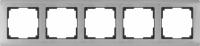 WL02-Frame-05 / Рамка Metallic на 5 постов (глянцевый никель) a030790