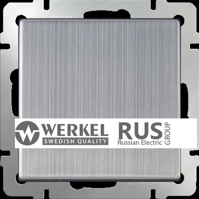 WL02-SW-1G-2W / Выключатель одноклавишный проходной (глянцевый никель)