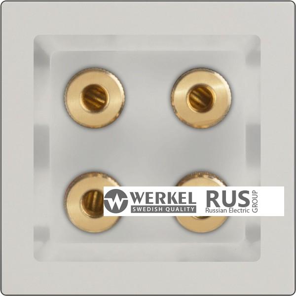 WL03-AUDIOx4 / Акустическая розетка (слоновая кость) a030808