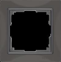 WL03-Frame-01-basic-grey / Рамка Snabb Basic 1 пост (серо-коричневый) a036698