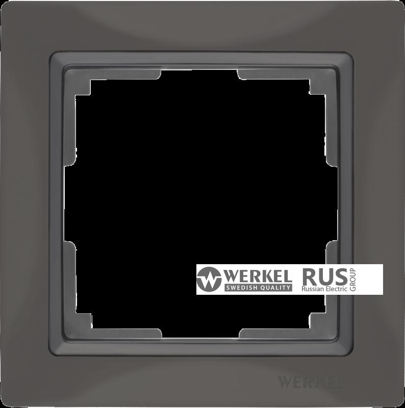 WL03-Frame-01-basic-grey / Рамка Snabb Basic 1 пост (серо-коричневый)
