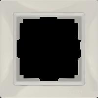 WL03-Frame-01-basic-ivory / Рамка Snabb Basic 1 пост (слоновая кость) a036630