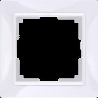 WL03-Frame-01-basic-white / Рамка Snabb Basic 1 пост (белый)