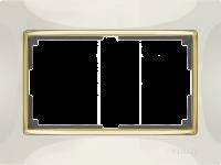 WL03-Frame-01-DBL-ivory / Рамка Snabb для двойной розетки (слоновая кость) a033482