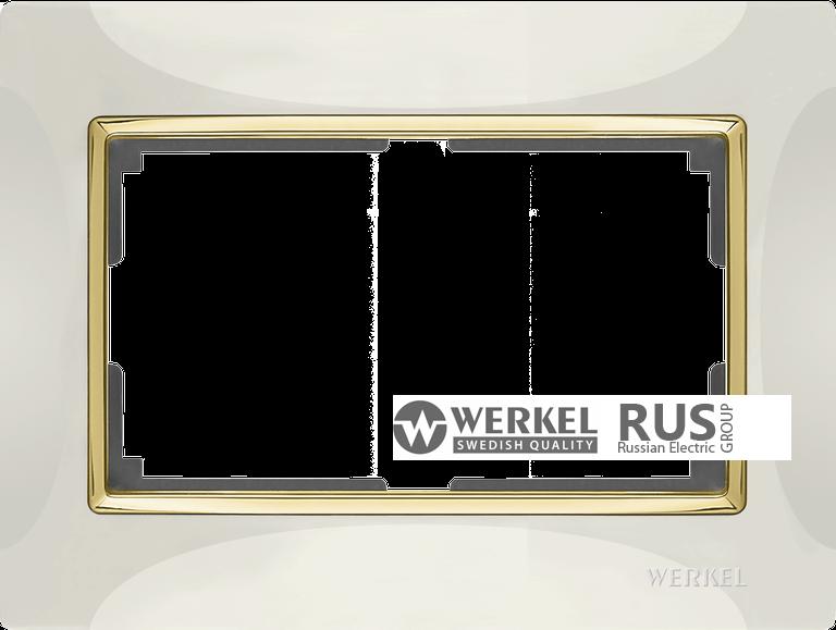 WL03-Frame-01-DBL-ivory / Рамка Snabb для двойной розетки (слоновая кость)