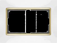 WL03-Frame-01-DBL-white/ Рамка Snabb для двойной розетки (белый)