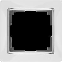 WL03-Frame-01-white / Рамка Snabb 1 пост (белый)