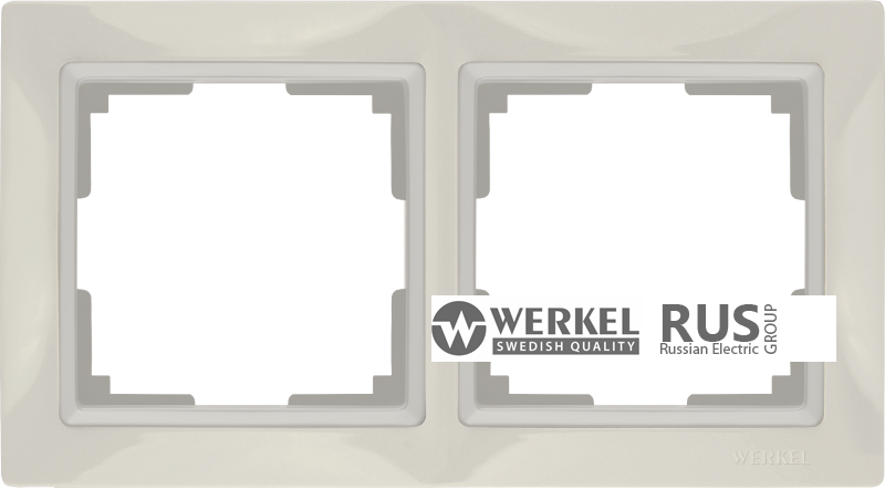 WL03-Frame-02-basic-ivory / Рамка Snabb Basic 2 поста (слоновая кость) a036631