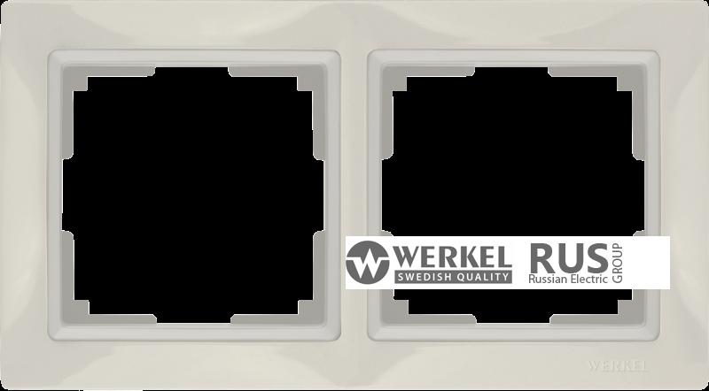 WL03-Frame-02-basic-ivory / Рамка Snabb Basic 2 поста (слоновая кость)