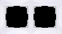 WL03-Frame-02-basic-white / Рамка Snabb Basic 2 поста (белый) a036626