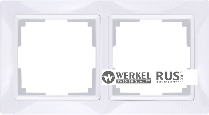 WL03-Frame-02-basic-white / Рамка Snabb Basic 2 поста (белый)
