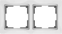 WL03-Frame-02-white / Рамка Snabb 2 поста (белый) a028881