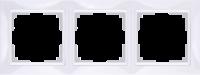 WL03-Frame-03-basic-white / Рамка Snabb Basic 3 поста (белый)