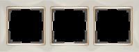 WL03-Frame-03-ivory-GD / Рамка на 3 поста (Слоновая кость / золото)