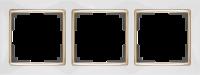 WL03-Frame-03-white-GD / Рамка на 3 поста (Белый / золото) a035254